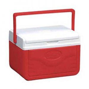 Coleman 5QT FlipLid Personal Cooler red