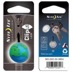 Nite Ize Cliplit green earth white LED