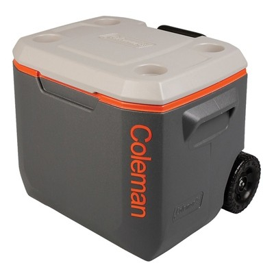 Coleman Cooler 50QT Xtreme Wheeled darkgrey orange lightgrey