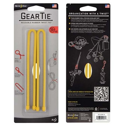 Nite Ize Gear Tie 12'' yellow