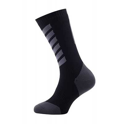 Sealskinz MTB Mid Mid with Hydrostop Socks S anthracite charcoal black