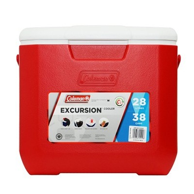 Coleman Cooler 30QT Excursion red