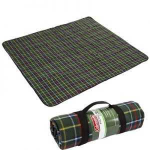 Coleman Picnic Blanket Large green tartan