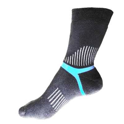 Lin Socks Mens Mountaineers Socks 26-28 grey blue