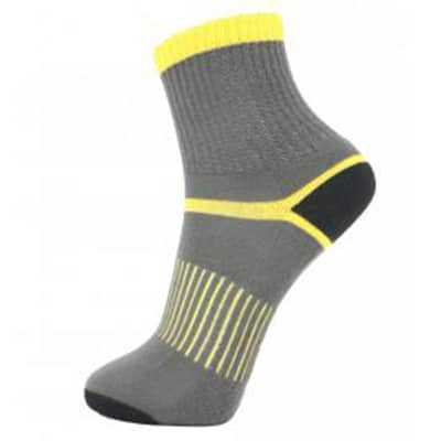 Lin Socks Mens Mountaineers Socks 26-28 grey yellow