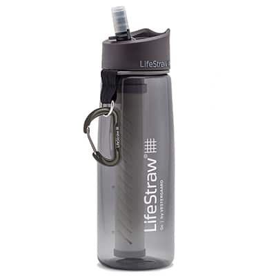 Lifestraw Go Bottle 2-Stage Filtration grey