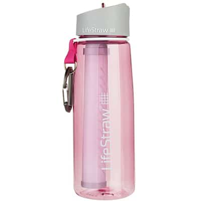 Lifestraw Go Bottle 2-Stage Filtration pink