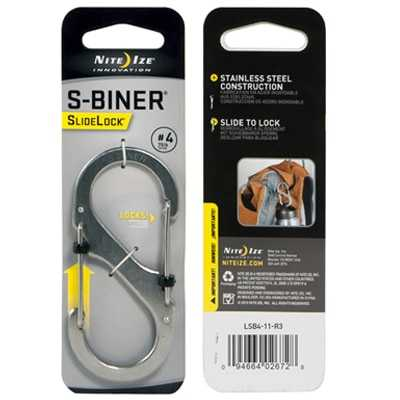 Nite Ize S-Biner Slidelock #4 stainless