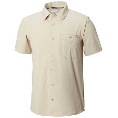 Columbia Triple Canyon Solid Short Sleeve Shirt L fossil