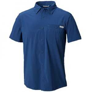 Columbia Triple Canyon Solid Short Sleeve Shirt M carbon