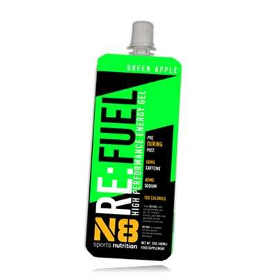N8 Sports Nutrition N8 ReFuel Energy Gel Green Apple
