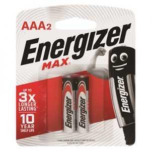 Energizer Max AAA Battery 2pcs
