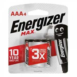 Energizer Max AAA Battery 4pcs
