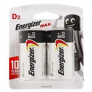 Energizer Max D Battery 2pcs