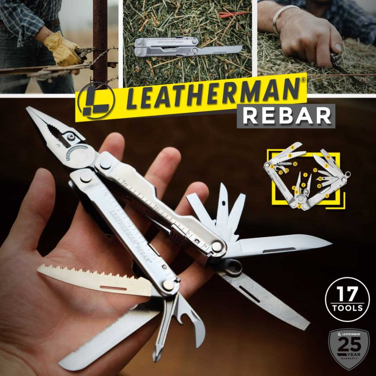 Leatherman Rebar 17-in-1 Multitools