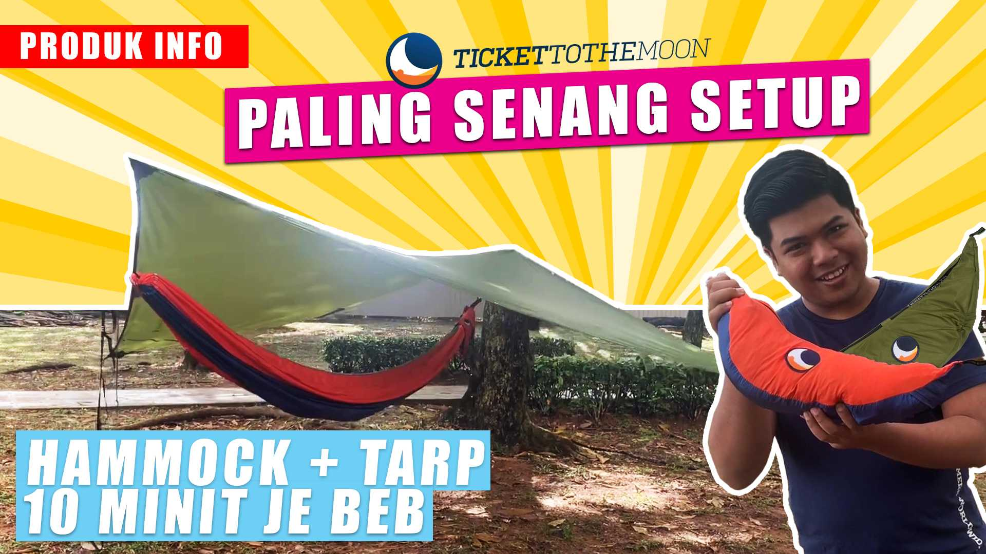 Cara Pemasangan Ticket To The Moon Hammock & Tarp