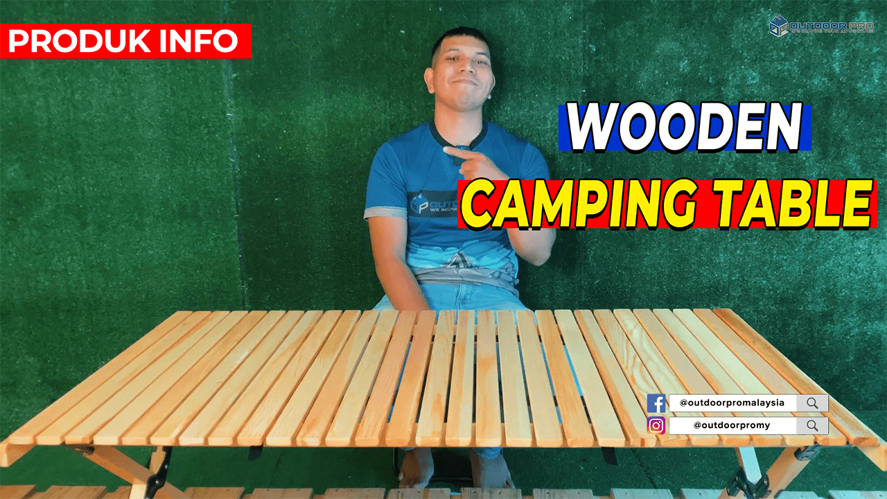WOODEN CAMPING TABLE