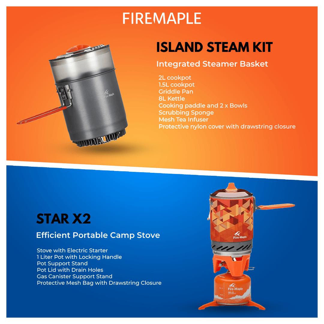 FIRE MAPLE STAR X2 VS FIRE MAPLE ISLAND STEAM KIT